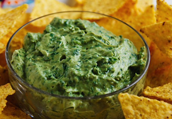 Pita Chips with Avocado Dip