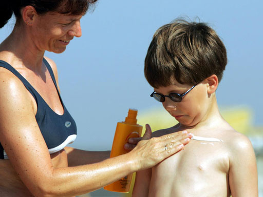 Rub on with Sunscreen