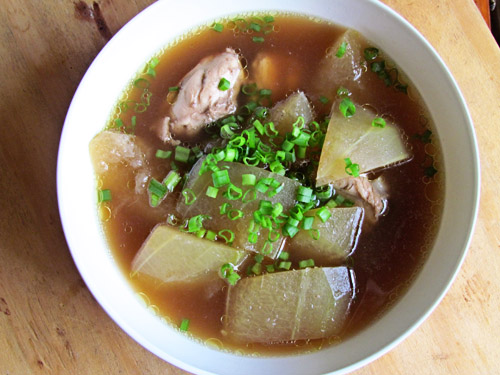 Winter Melon Soup with Shiitakes and Speck Ham
