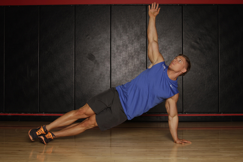 Side Plank Push Up